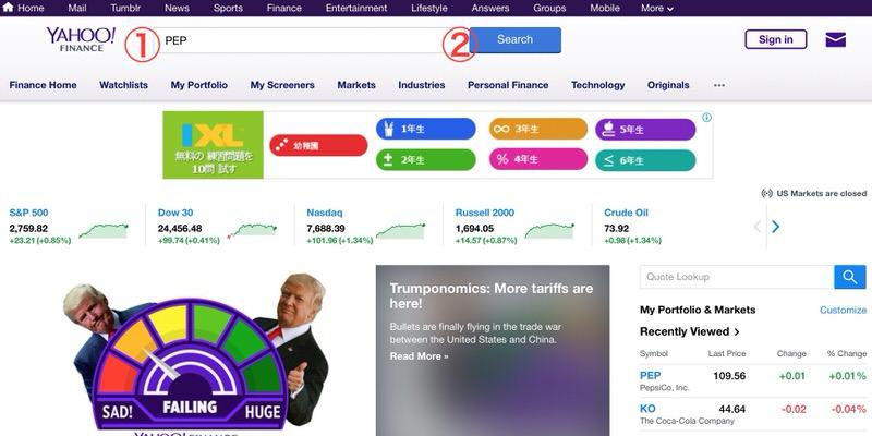 米国株決算Yahoofinance