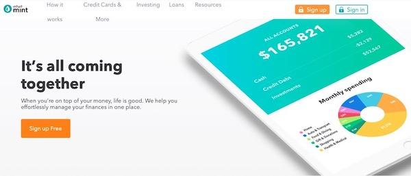 個人用会計アプリ「Mint」